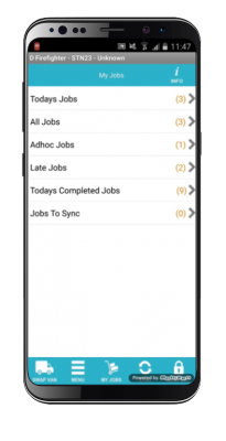 mobile workforce module screenshot on mobile