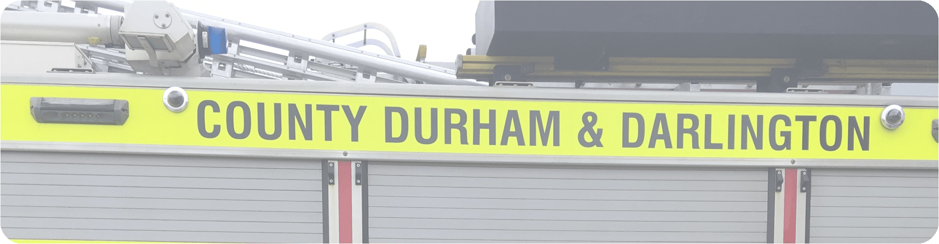 county durham and darlington fire engine banner
