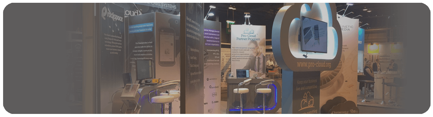 Scotland Works Pro-Cloud exhibition stand banner
