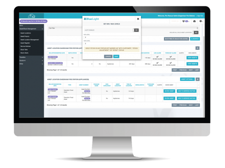 stock management screenshot on desktop computer