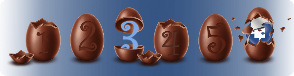 numbered easter eggs banner