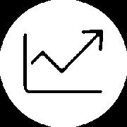 graph arrow icon