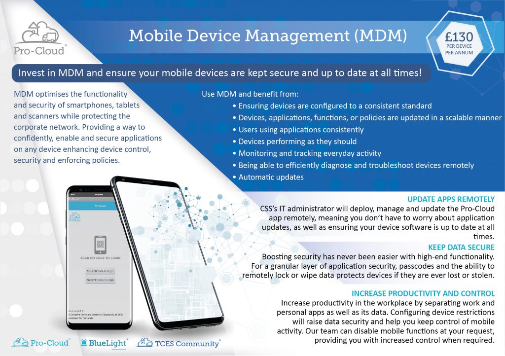 Mobile Device Management flyer