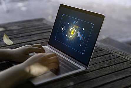 Laptop Computer with Data protection, Cyber security, information